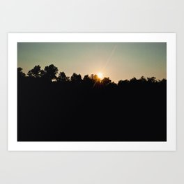 Sunset at Sloan's Pond Art Print