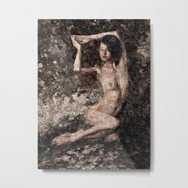 Abstract Nude Girl Metal Print