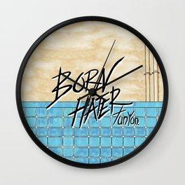 Born Hater Wall Clock