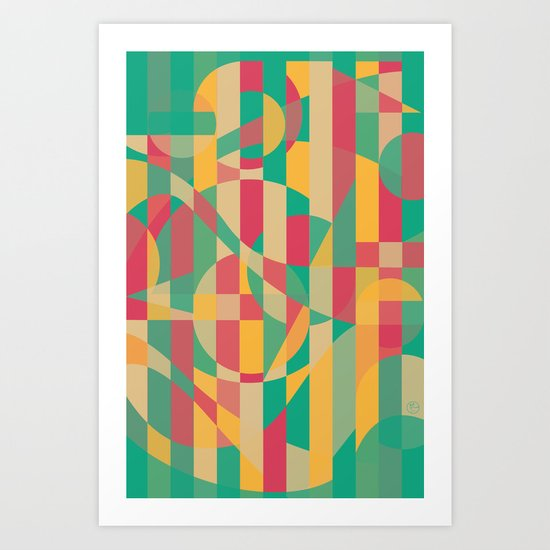 Abstract Graphic Art - Contemporary Music Art Print