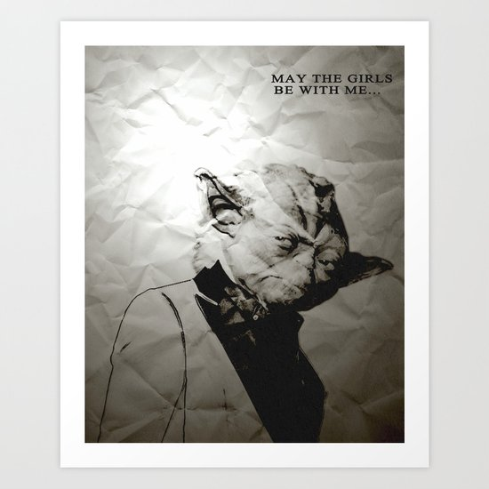 Unreal Party Yoda Art Print