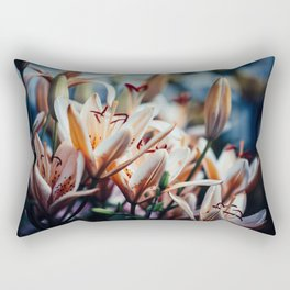 Lilies in Shadow, from my floral photography collection Rectangular Pillow
