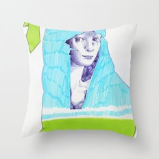 A Traveler  Throw Pillow