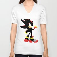 shadow V-neck T-shirts featuring Shadow by JHTY