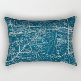 Vintage Lost Villages of Scituate, Rhode Island Map before flooding of Scituate Reservoir Rectangular Pillow