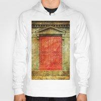 doors Hoodies featuring Red Doors by davehare