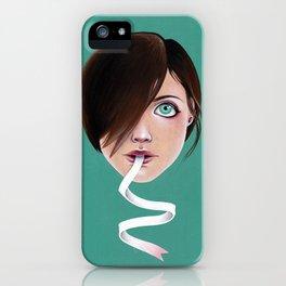 Script Lips iPhone Case