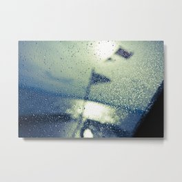 Water on the boat Metal Print