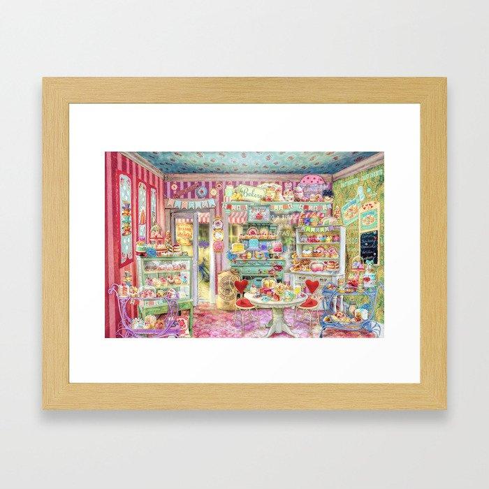 The Little Cake Shop Framed Art Print