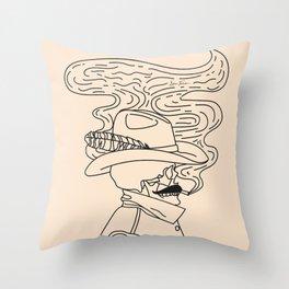 Love or Die Tryin' - Cowhand Black & Cream Throw Pillow