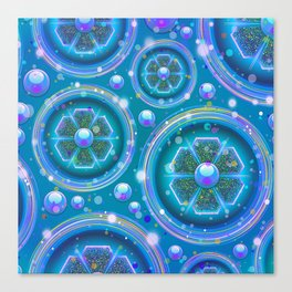 Space Age Abstract Circles Canvas Print