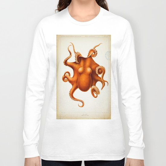 Octopus Cephalopod 1915 Long Sleeve T-shirt