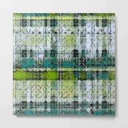 Forest Marmalade Plaid Metal Print