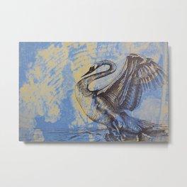 Swan Pose Metal Print