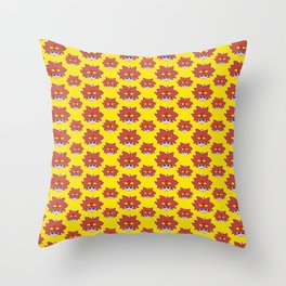 Eggette / Omelette pattern Throw Pillow