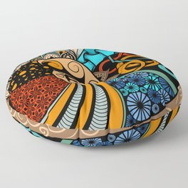 Hand-drawn ethno zentangle pattern, tribal background African sty. Beautiful, africa. Floor Pillow