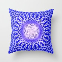Swirling Dreams, blue  Throw Pillow