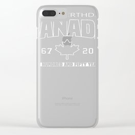 Happy Birthday Canada 150 Anniversary Clear iPhone Case