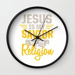 Jesus is Redeemer and Savior Wall Clock