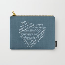 Quotes of the Heart - Destiel (White) Carry-All Pouch