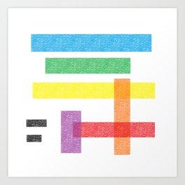 Crayola Pattern Art Print
