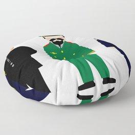 International Police Uniforms & Moustaches Floor Pillow