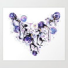 Watercolor Necklace Art Print