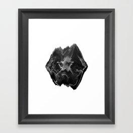 Black and White Glitch Art Framed Art Print