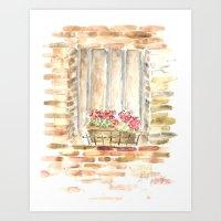 Italy Window Art Print