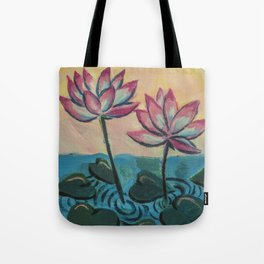 Lotus in the Pond Tote Bag