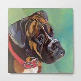 Boxer Dog Keeley Pet Portrait Metal Print
