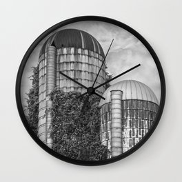 Abandoned Silos Wall Clock