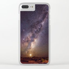 Rising Venus and the Milky Way Down Under Clear iPhone Case