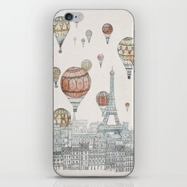 Voyages Over Paris iPhone Skin