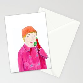 Doris Day on the phone Stationery Cards
