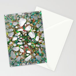 Terrazzo - Mosaic Abalone Pearl and Gold #6 Stationery Cards