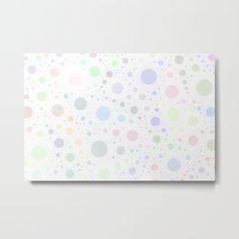 Light and Subtle Multicolored Pastel Bubbles Froth Vector Pattern  Metal Print