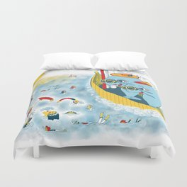 Look, honey!...the humans are migrating again!!! Duvet Cover