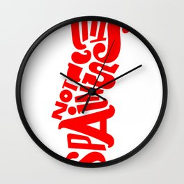 This is not Spain Wall Clock