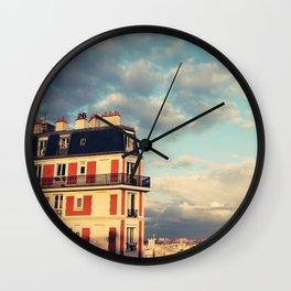 Shadow Of Sacre Coeur Wall Clock