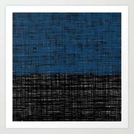 platno (blue) Art Print
