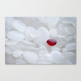 Drop of Red - Japanese Red Sea Glass Canvas Print