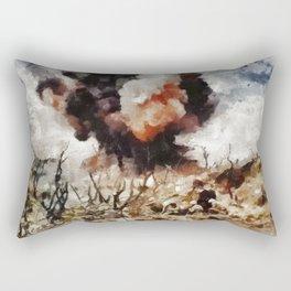 Marine Demolition, WWII Rectangular Pillow