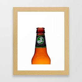 Beer Bottle Framed Art Print
