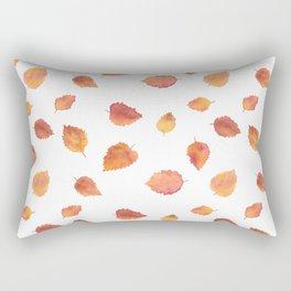 Autumn birch tree leaves Rectangular Pillow
