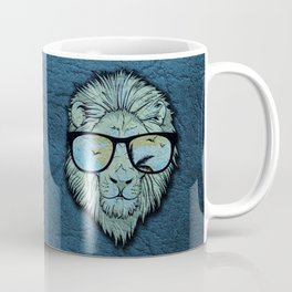 Stylish Lion Design with Moroccan Leather background Coffee Mug