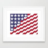 american flag Framed Art Prints featuring American Flag by Mychal Diaz
