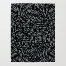 Ab Lace Black and Grey Poster