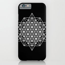 White star tetrahedron iPhone Case