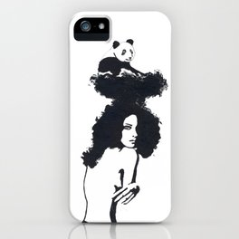 Traveling Panda iPhone Case